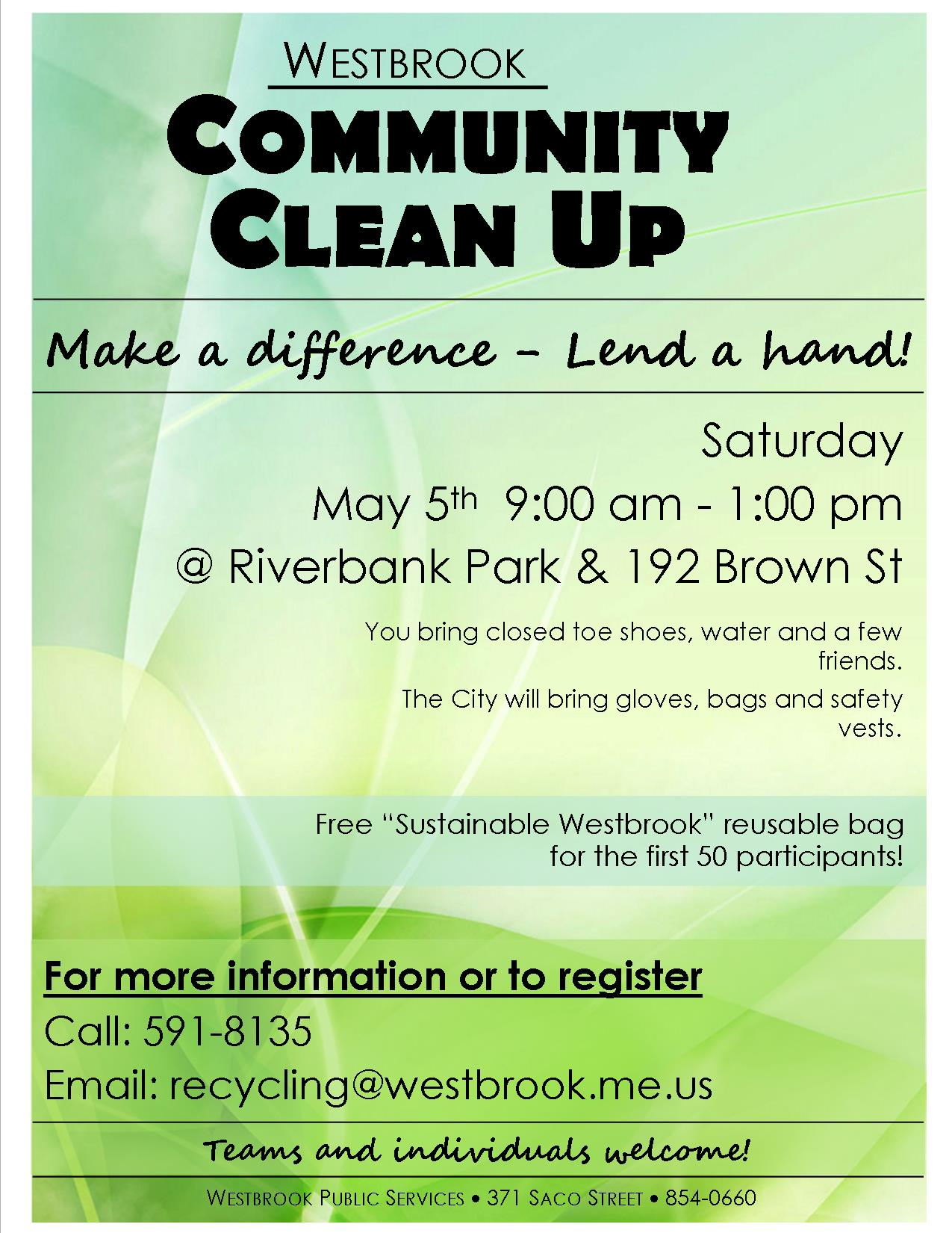Community Clean Up Day Poster 2018