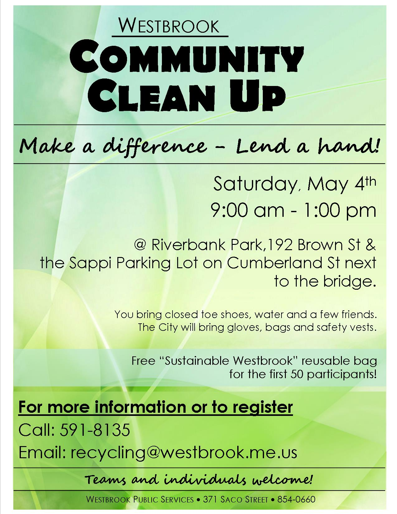 Community Clean Up Day Poster 2019 v2