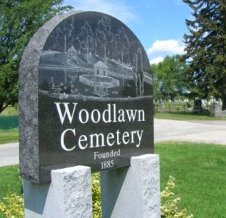 Sign of Woodlawn Cemetery