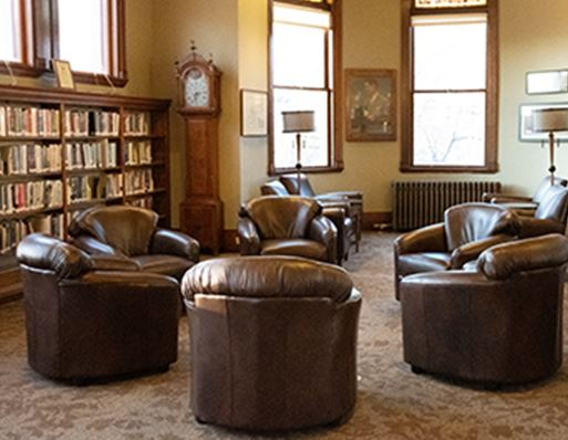 Leather Chairs in Library