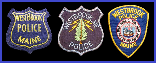Westbrook Police Department Uniform Shoulder Patches, Original Design (1959), 2nd Design (1962) and