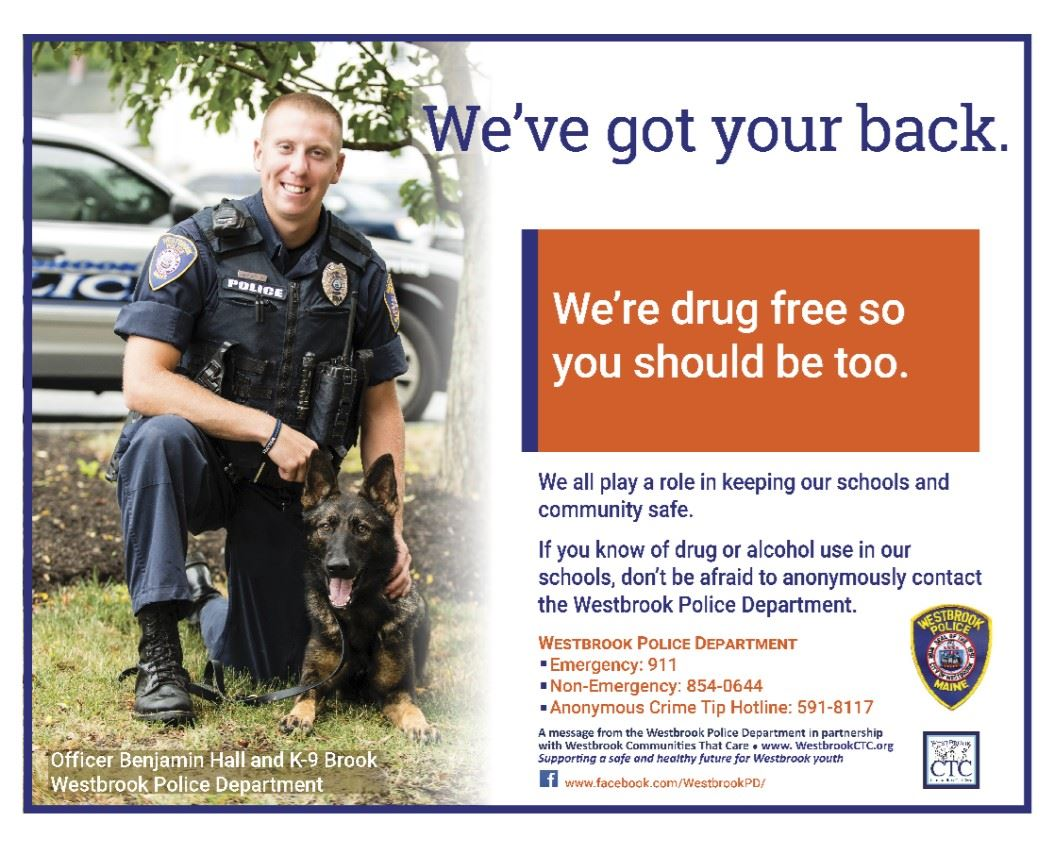 Officer Benjamin Hall and K9 Brook  Got Your Back Poster