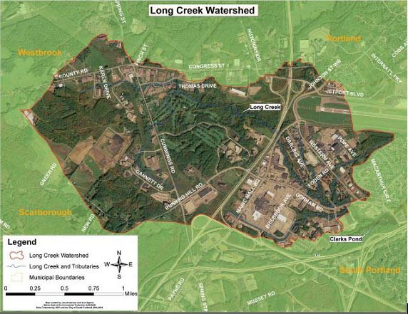 Storm Water Management of Long Creek Map