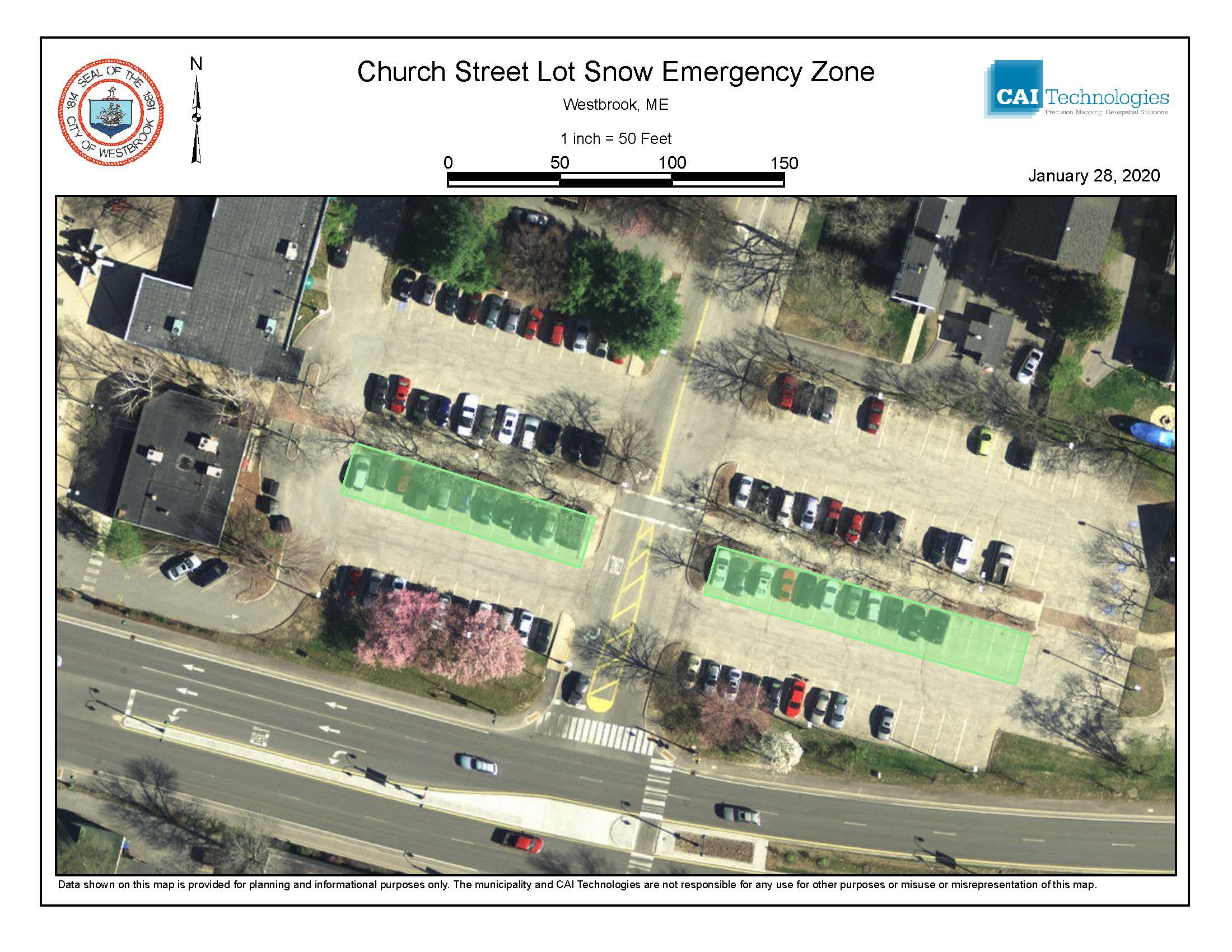 church street lot snow emerg zone