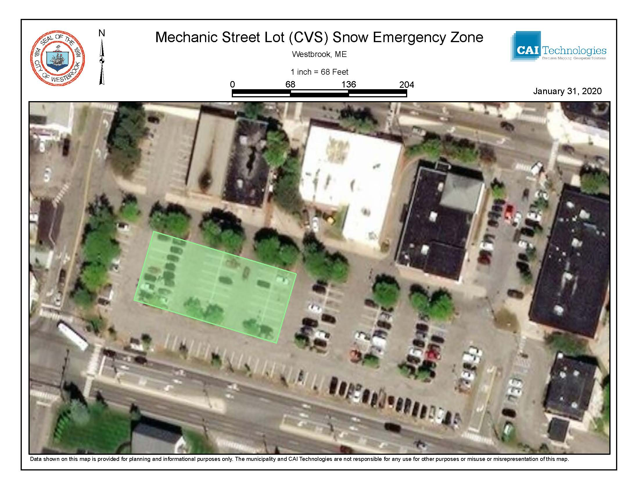 Mechanic Street Lot CVS Snow Emerg Zone